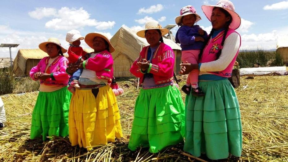 Uros on lake Titikaka