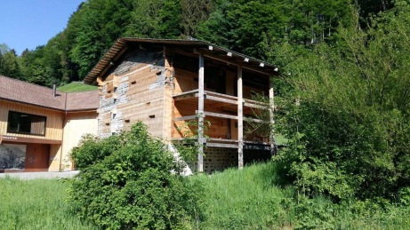 The oldest wooden house in Switzerland and perhaps Europe