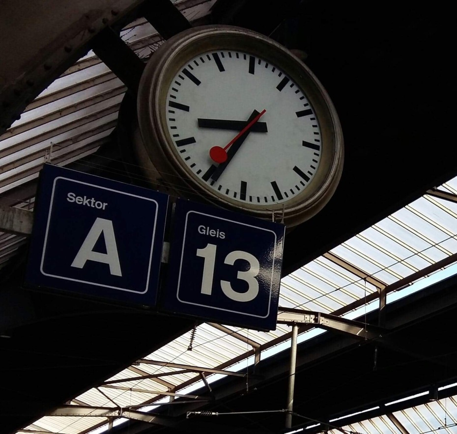 Swiss Station Clock