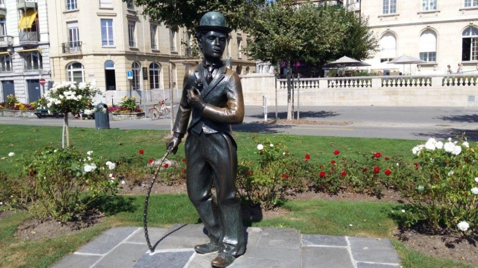 Charlie Chaplin in Vevey Switzerland