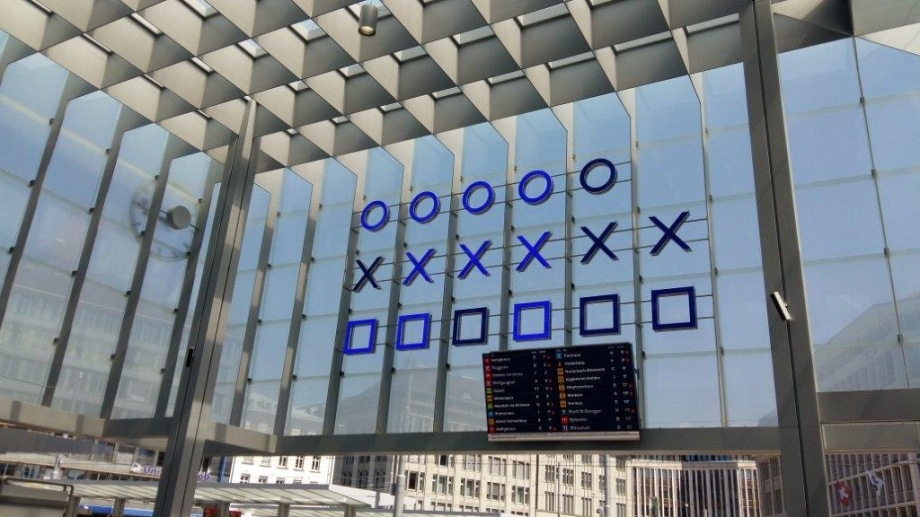Binary Train Station Clock