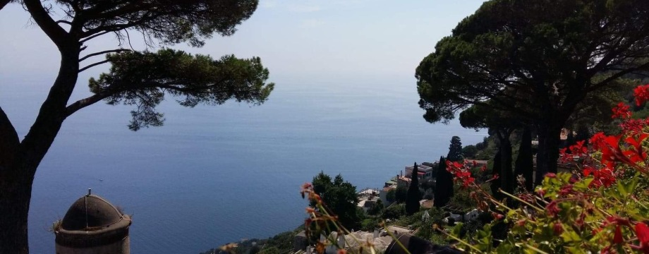 View from the gardens of Villa Rufolo