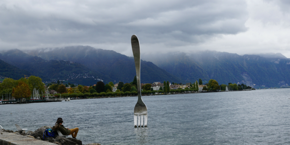 Fork in the lake - Vevey Switzerland