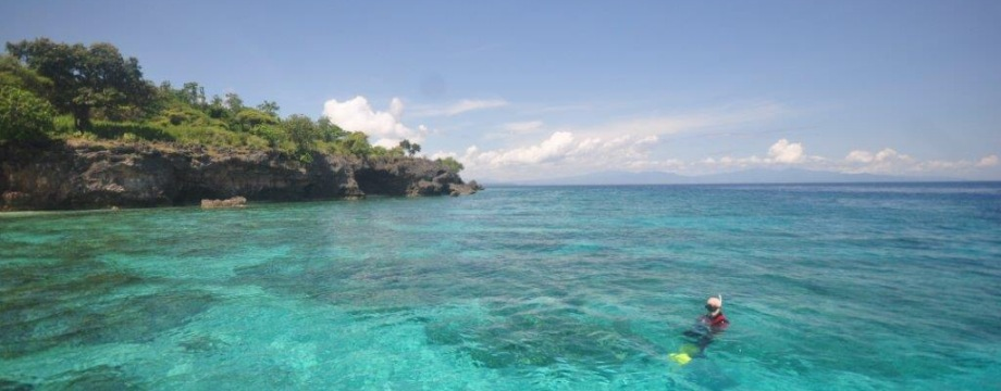 Scuba Diving and Snorkling in Paradise, the Blue emOcean on Moyo Island