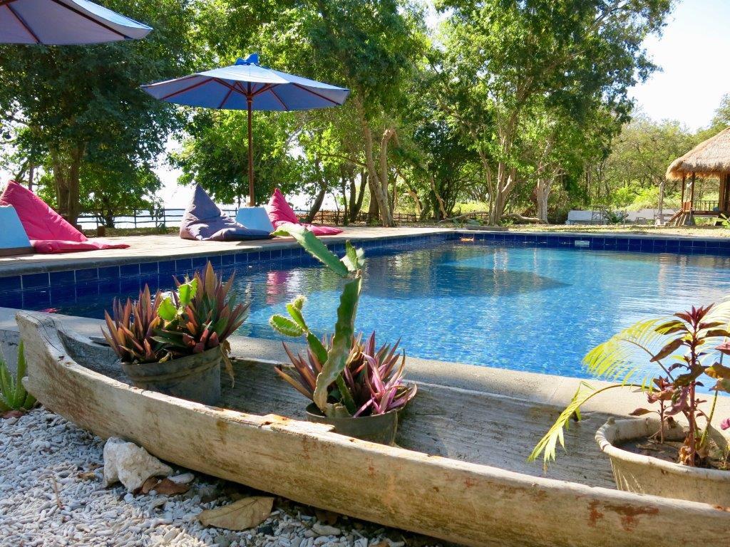 Pool of the Blue emOcean Resort on Moyo island