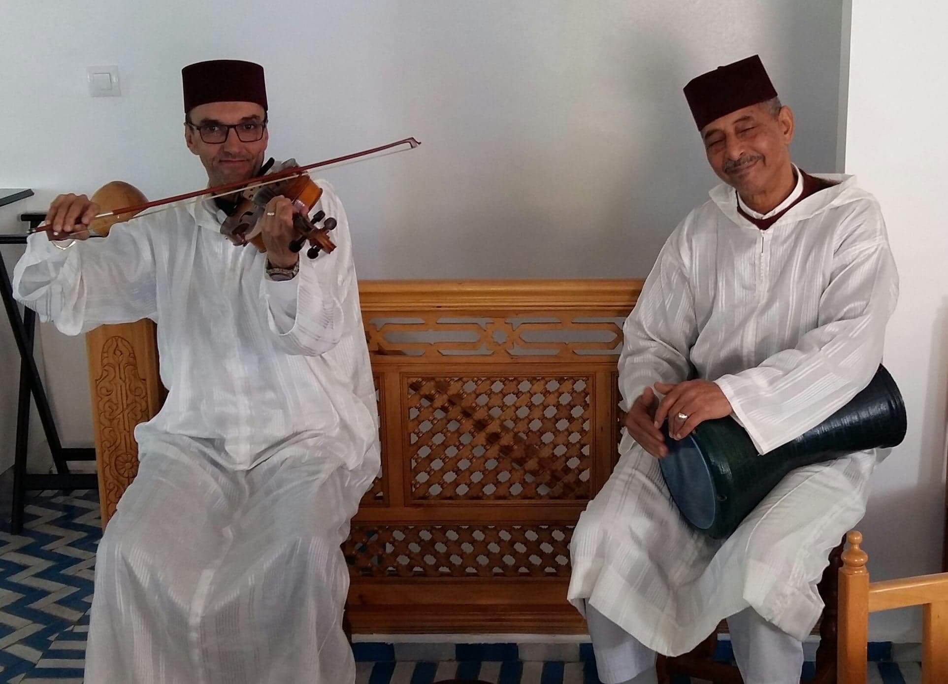 Musicians in a typical Restaurant in Tangier