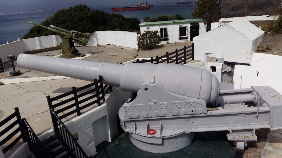 The 100-ton RML super canon in Gibraltar, Rosia Bay