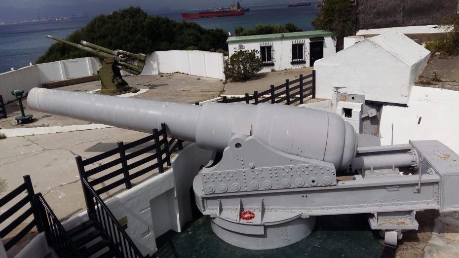 The 100-ton RML super canon in Gibraltar, Rosia Bay