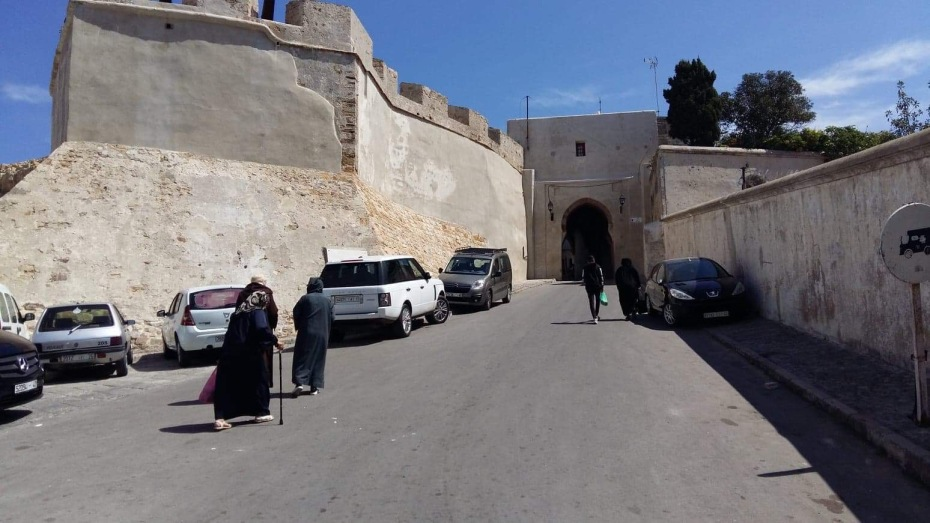 Entering the Kasbah district and the Medina