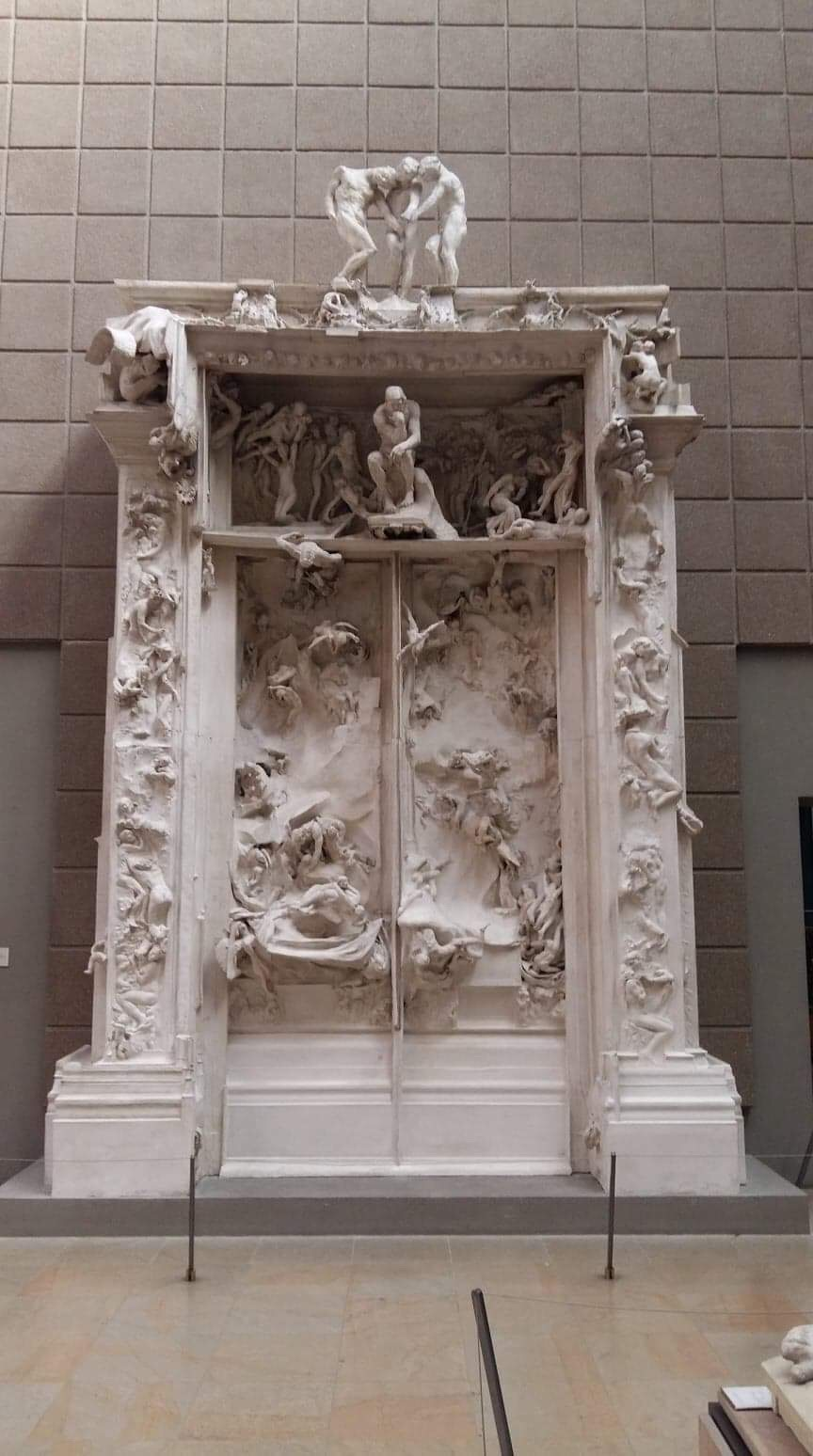 Gate of Hell in the Musée d'Orsay in Paris