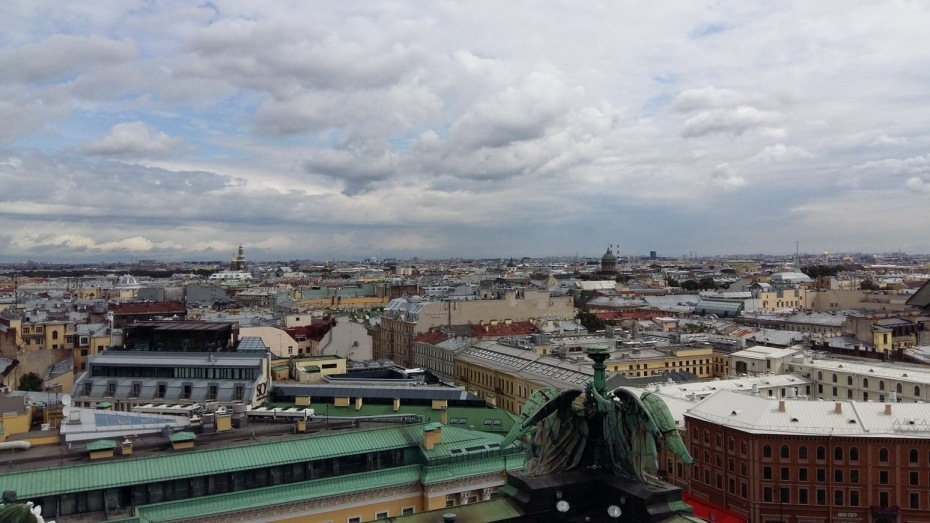 St. Isaac's Cathedral - view over St. Petersburg from the visitors platform